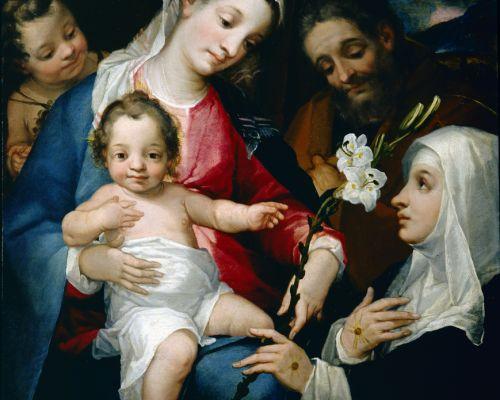 Sacra Famiglia con san Giovannino e Santa Caterina